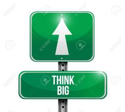 think big road sign concept illustration