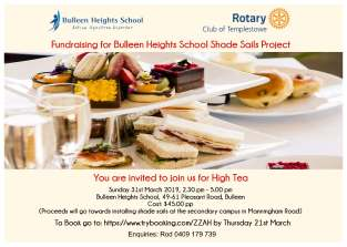 A5 high tea invite