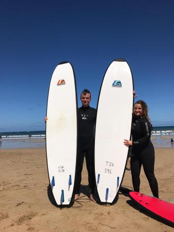 Lea and surfboards