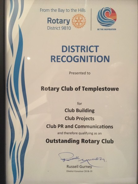 Outstanding Award - Club